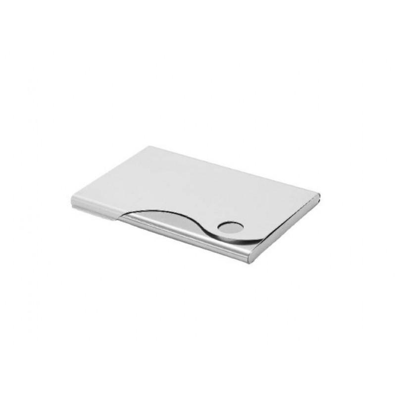 Slim Wavy Aluminium Card Holder