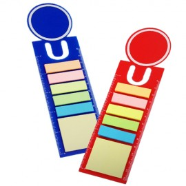 Bookmark with Sticky Notes & Ruler
